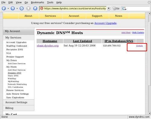 DynDNS Host Record